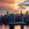 Epic sunset in New York