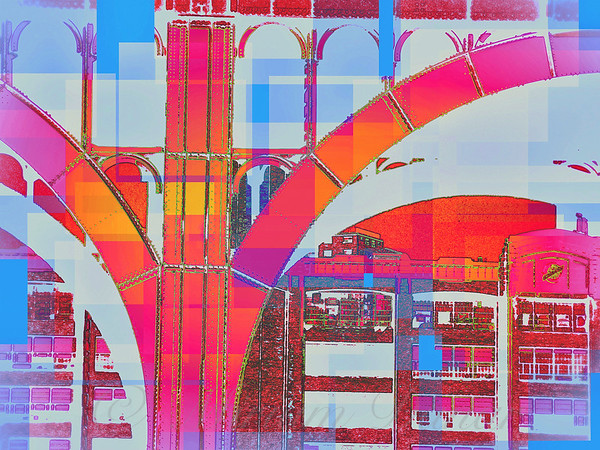 Arch Four - Hot Pink Melon Sky - Architecture of New York City