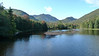 Marcy Dam Pond, from Marcy Dam - the mountains showing include TR Mountain, Mount Colden, Avalanche Mountain