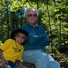 Anthony and Grandpa on the trail at Buttermilk Falls.
