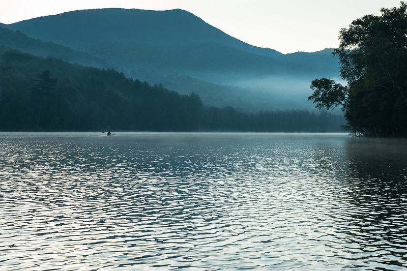 1st Morning canoe trip on Blue Mountain Lake just after sunrise.