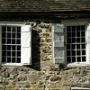 New Paltz - Wooden shutters on stone building