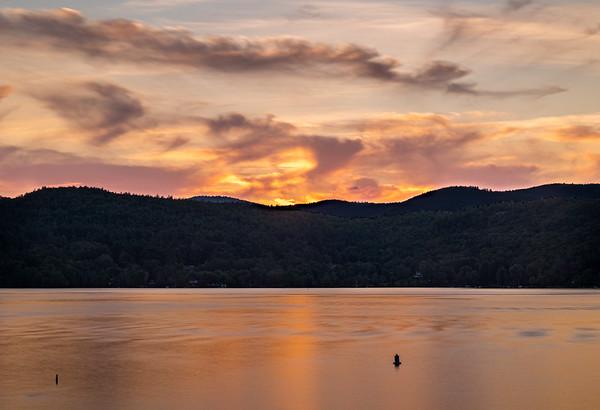 Sunset on Lake George