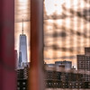 A peek at One World Trade Center on Williamsburg Bridge