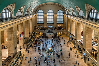 View of Grand Central Terminal's main concourse from fifth floor catwalk
