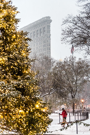 Snow day at Madison Square Park