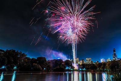 Fireworks at Central Park