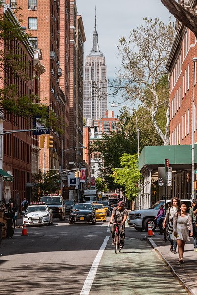 View of Empire State Building from Macdougal Street