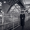 Jewish man on Williamsburg Bridge