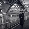 Jewish man on Williamsburg Bridge
