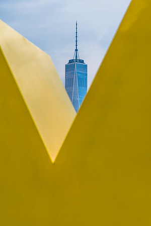 View of One World Trade Center from Brooklyn Bridge Park