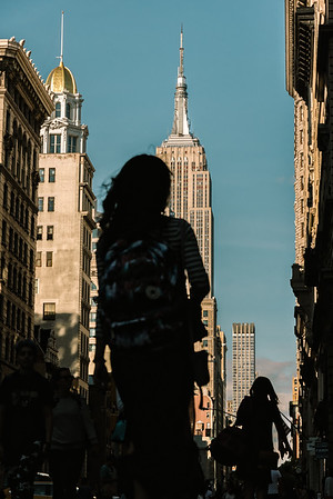 View of Empire State Building from Flatiron District