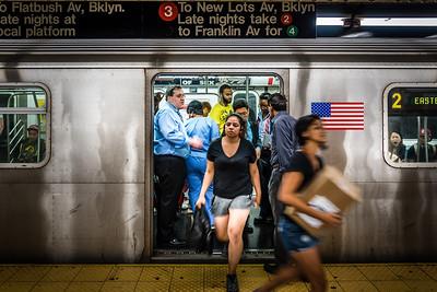 Commuters on 2 Train