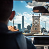 View of Queensboro Bridge and 432 Park Avenue from the car