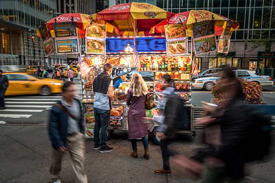 Food cart in New York