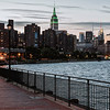 View of Empire State Building from East River Bikeway