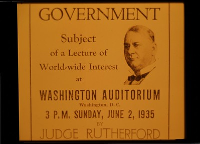 J.F. Rutherford spoke from Washington D.C., in 1935, the message was carried by radio and telephone lines to six continents. jv p. 266