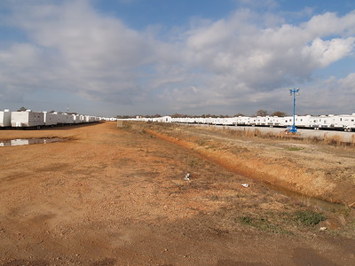 FEMA Trailer Staging Lot  - There are about 3000 trailers on this lot