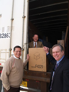 On the left From the Marrero Relief  Center Gus Matamoros, Center Houston Scott Carter, Right Houston Committee Member John Eppolito.