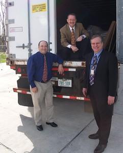 Left Marrero Relief Office Gabe Raggio  Center Houston Scott Carter, Right Houston Committee Member John Eppolito.