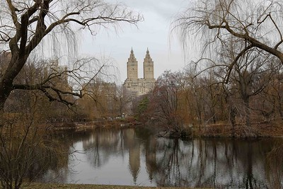 Luxurious San Remo apartment building overlooks the lake in Central Park. Home of many celebrities.