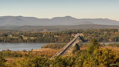 Rip Van Winkle Bridge and Hudson River