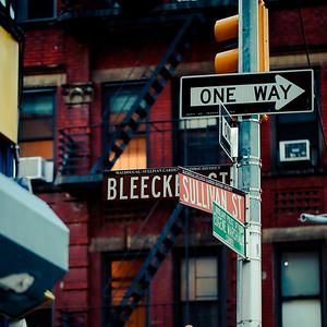 Bleecker Street & Sullivan Street
