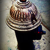Antique Fire Hydrant - Blue Tones - Iconic New York City