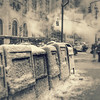 Free Papers - If You Can Get Them - Snowy Day in the City