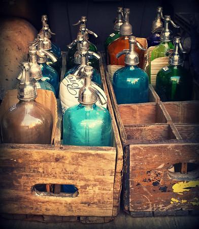 Antique Vintage Seltzer Bottles - Retro