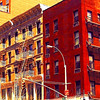 Old Buildings of New York City - Watercolor Effect