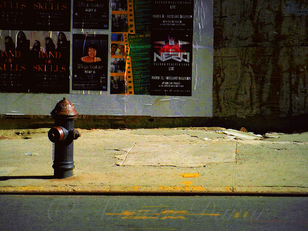 Fire Hydrant and Poster - New York City Street Scene