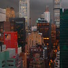 New York City Skyline with Chrysler Building and MetLife Building - Stormy Night