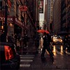 Jazz in Red and Yellow - New York in the Rain
