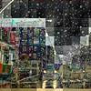 Rounding the Corner - New York City in the Rain