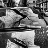 A Tree Grows in Brooklyn - Reflections on a Car - New York City Street Scene - Vertical