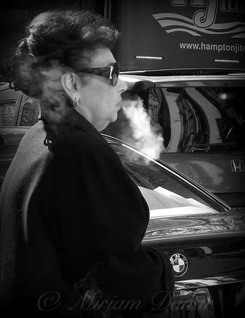 Just Blowing Smoke - New York City Street Scene