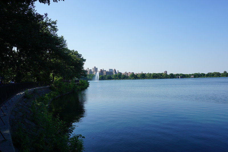 Next day @Central Park, Jackie O reservoir!