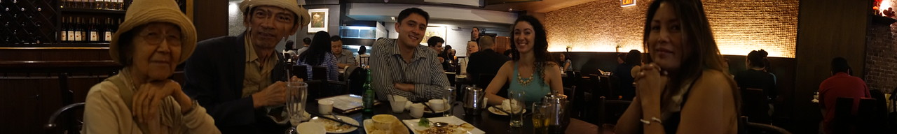 Pano with gMa Flor at Nyonya's resto. Delicious Malaysian cuisine pre-show!
