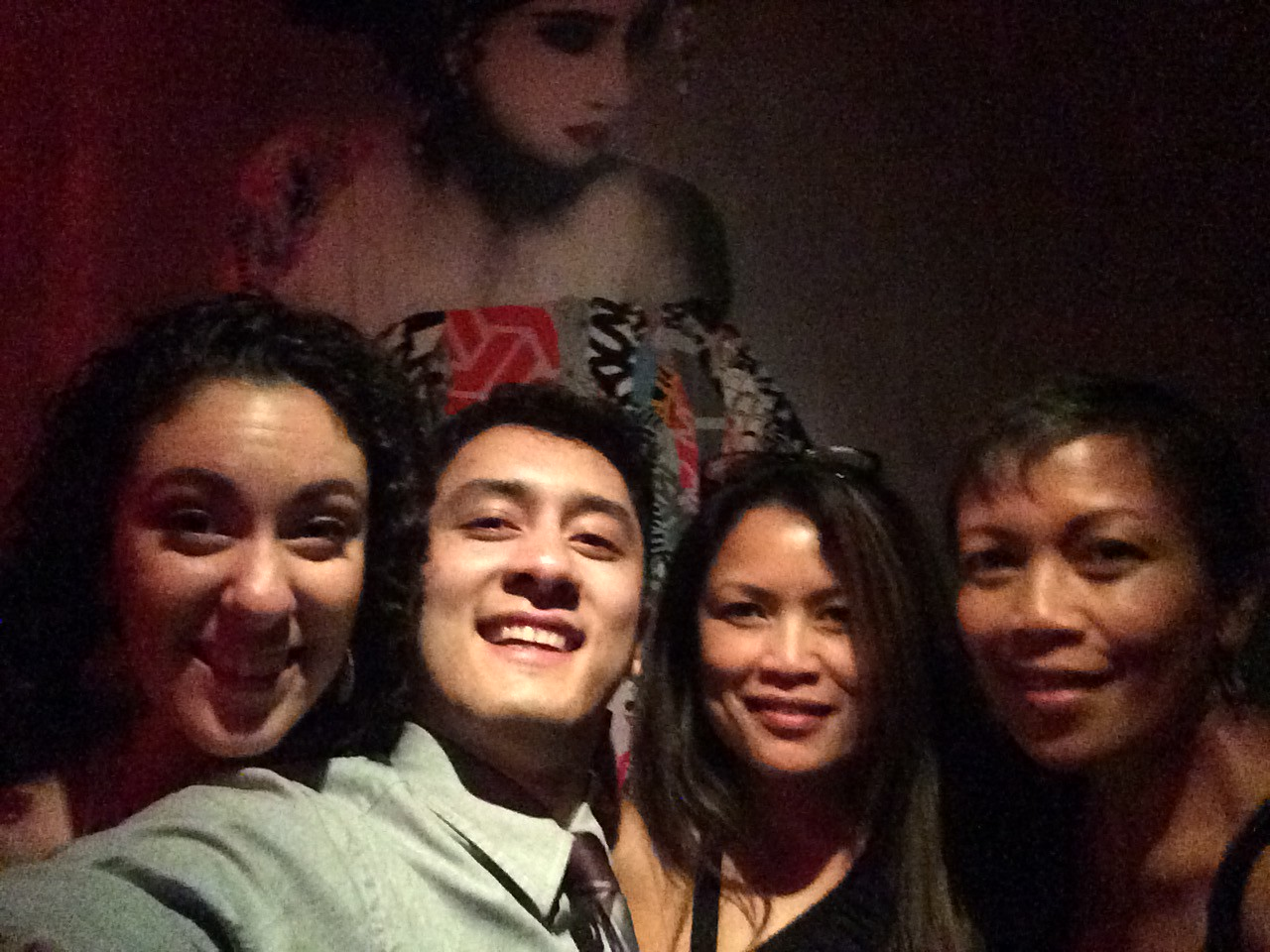 Selfie @Tao, Downtown with wall art in the back!