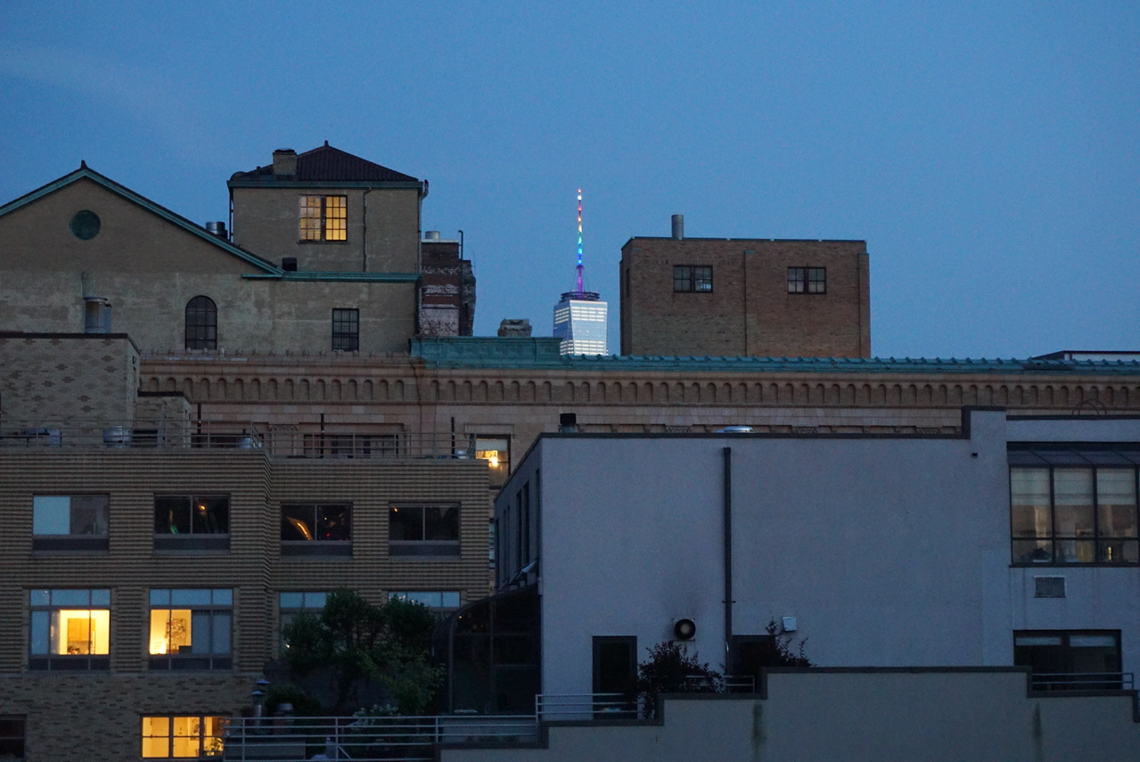 Even 1 WTC has it's spire in pride colors. So cool!