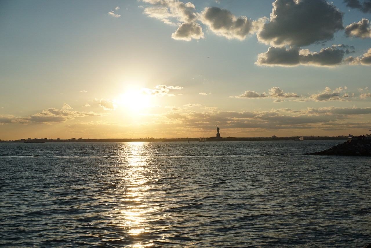 Nice sunset with lady Liberty!