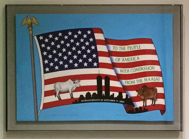 American Flag witih Condolences from the Maasai