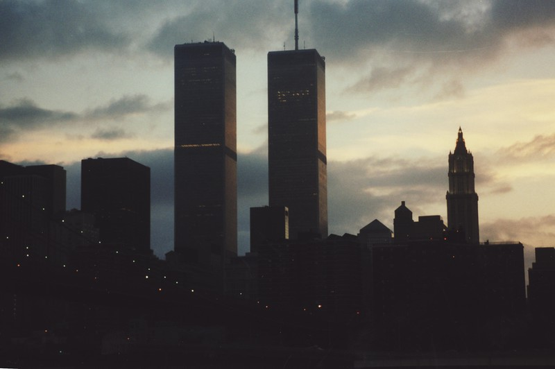 World Trade Center Twin Towers at Night