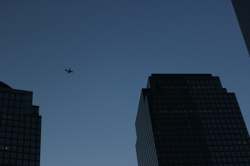 Airplace over Ground Zero Post 9/11