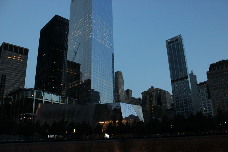 9/11 Memorial and Museum at Ground Zero at Night
