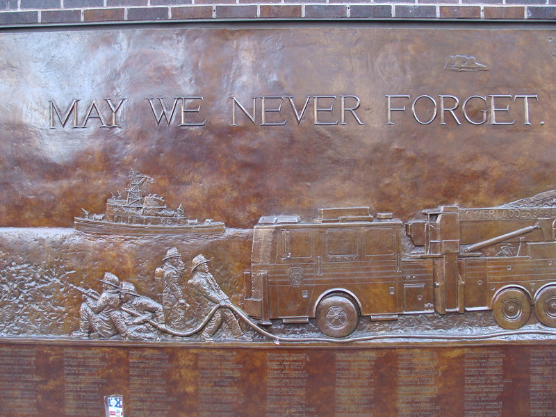 Memorial Wall, May We Never Forget