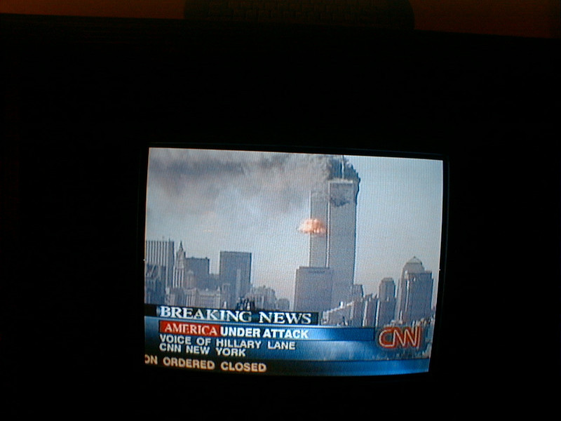 9/11, TV while on business in Taipei