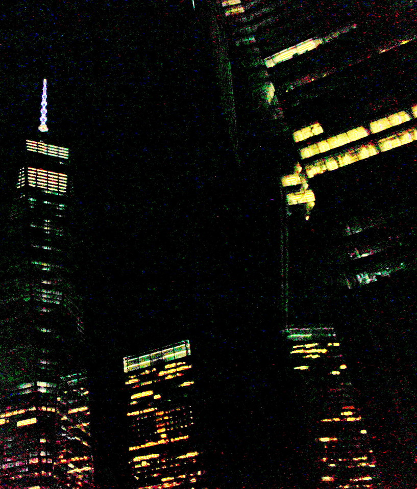 Night View of the New World Trade Center