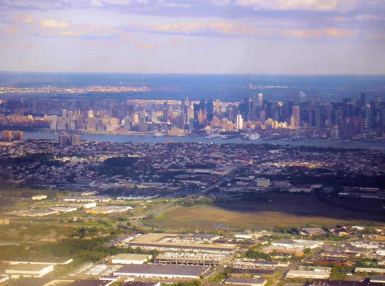 New York City along the Hudson River